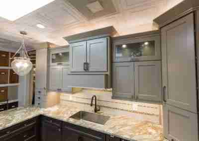 AGS Stone Kitchen Cabinet Grey