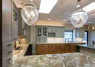 Lights, Countertops, Cabinets & kitchen
