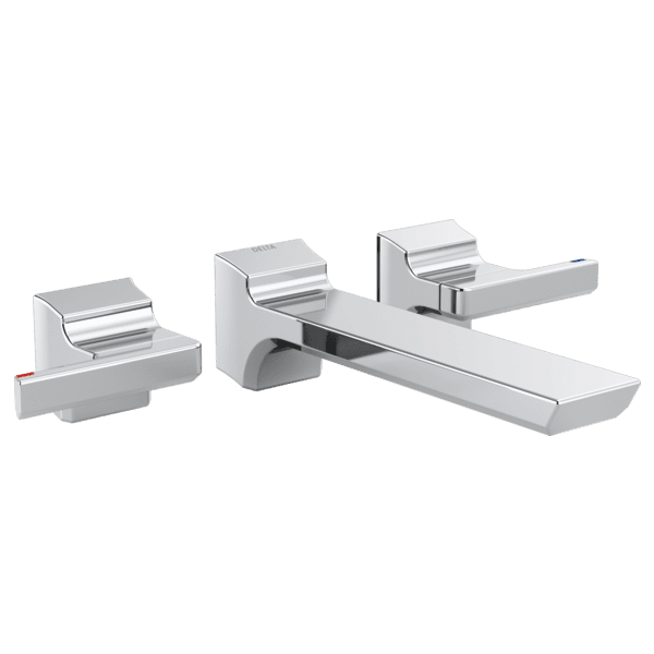 Two Handle Wall Mount Bathroom Faucet-Trim-AGS-Stone