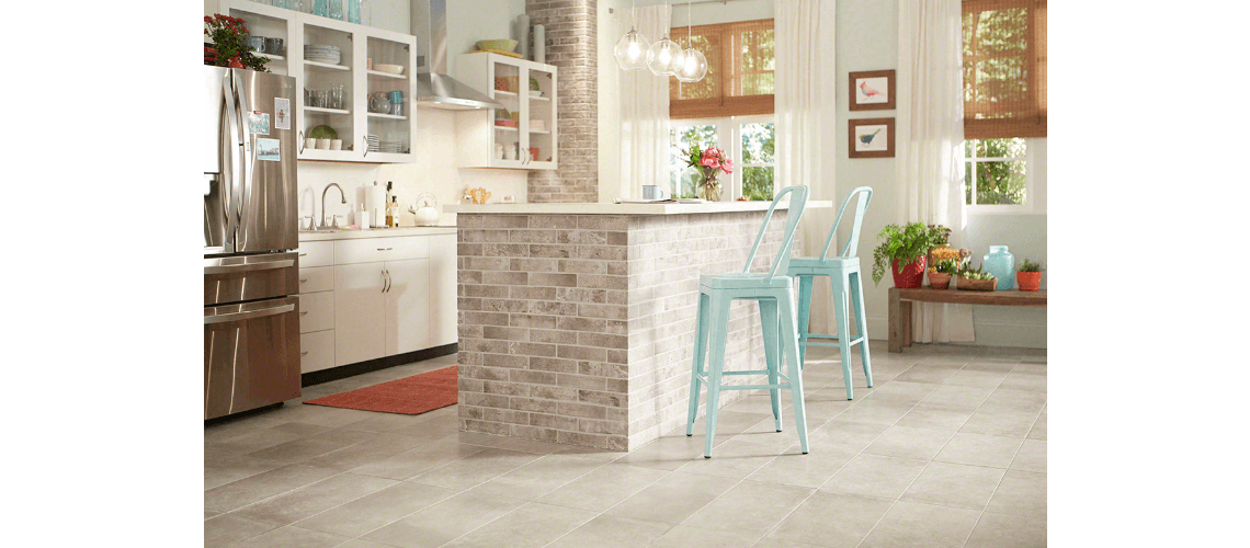 Tampa Tile  Store with Porcelain Flooring - Kitchen Photo