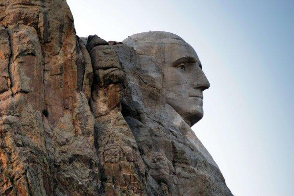 Mount Rushmore made from granite